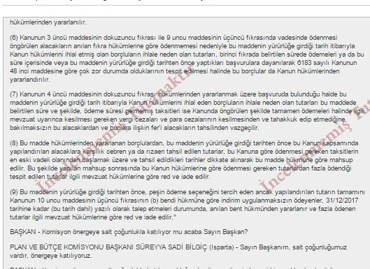 Vergi Affı İlk Taksit Ödemeyenlere Müjde.