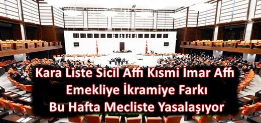 Sicil Affı Emekliye İkramiye İmar Affı İçeren Torba Yasa Mecliste Bu Hafta Yasalaşıyor ?