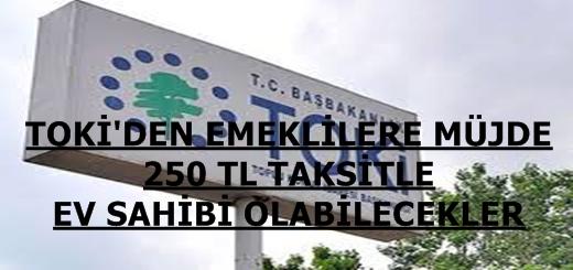 Emeklilere Müjde TOKİ'den 250 TL Taksitle Ev