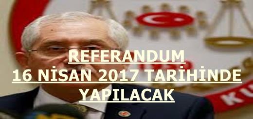 YSK Referandum Tarihini Belirledi.16 Nisanda Sandık Başına