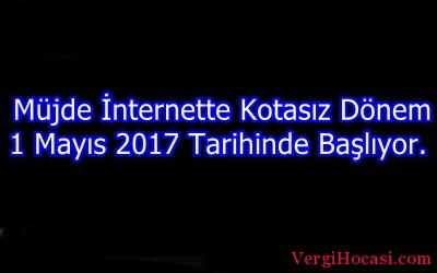 Müjde İnternette Kotasız Dönem 1 Mayıs 2017 Tarihinde Başlıyor